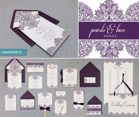 diy elegant lace wedding invitation template suite