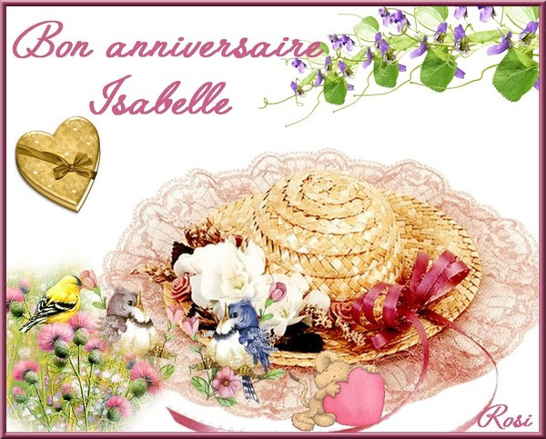 Picture Anniversaire Isabelle Sirena