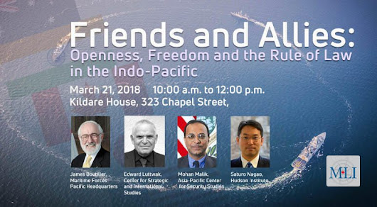 PHOTOS and VIDEO: Friend and Allies: Openness, Freedom and the Rule of Law in the Indo-Pacific | Macdonald-Laurier Institute