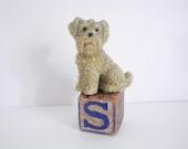 Vintage Snowbaby Dog - Scottie Dog Snowbaby Figure -- Pico China Japan - vinieschild