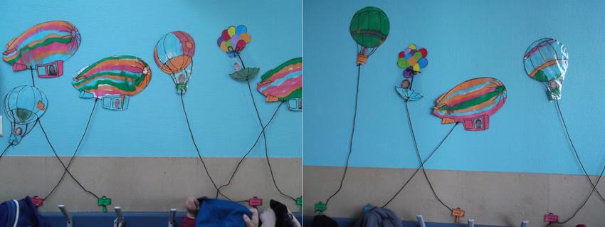 ballon pour décorer porte manteau maternelle