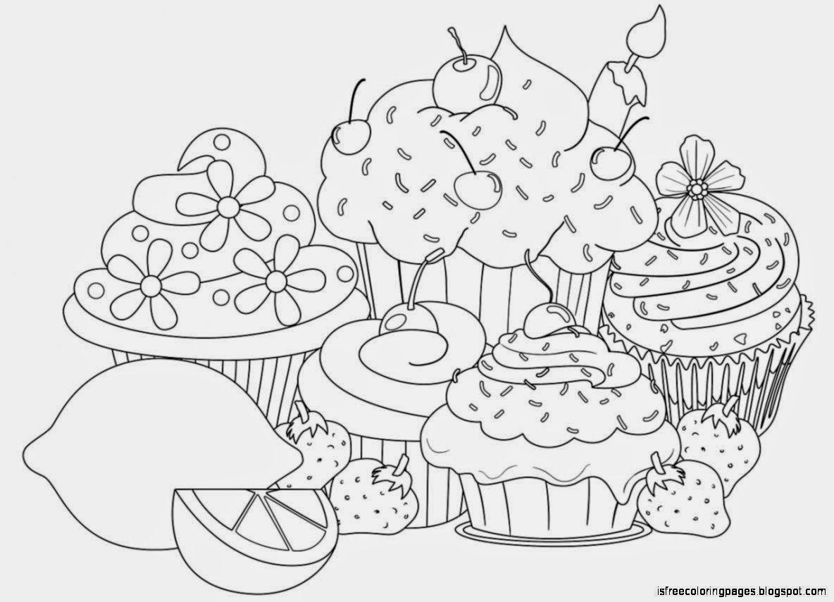 44 Top Coloring Pages Of Cupcakes And Cookies , Free HD Download