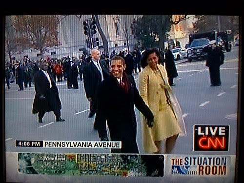 President Obama Walking the parade route