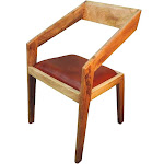 SPANISH STYLE GENUINE BRIDLE LEATHER LOUNGE CHAIR