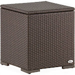 Serta Laguna Outdoor Storage Side Table Wicker, Brown