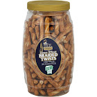 Utz Select Braided Twists Pretzels, Honey Wheat - 26 oz jar