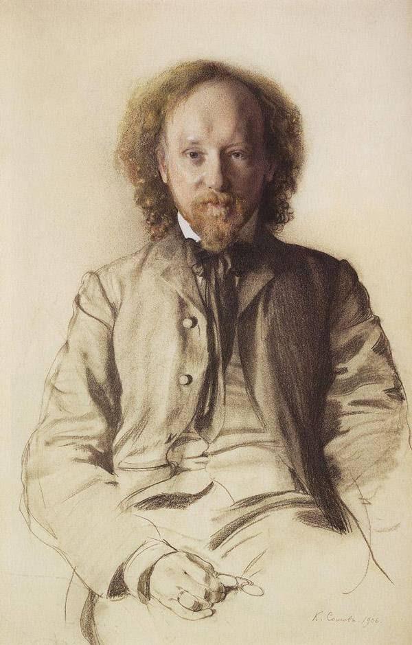 Портрет писателя и поэта В.И.Иванова. 1906