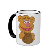 Fozzie Bear Holding Disney Mugs