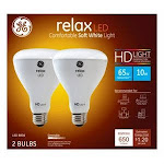 GE Relax HD LED Light Bulbs, Soft White, Dimmable, 650 Lumens, 10-Watts, 2-Pk. by True Value