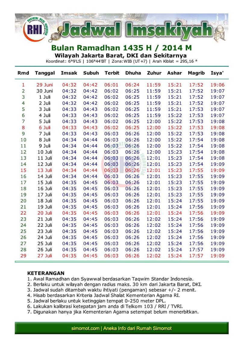 review terbaru: Jadwal Imsak Dki