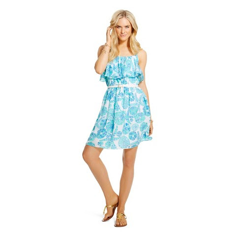 Lilly Pulitzer for Target Women's Satin Flounce Dress - Sea Urchin for You