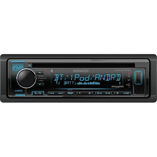 Kenwood KDC-BT372U Single-Din In-Dash CD Receiver with Bluetooth, Black
