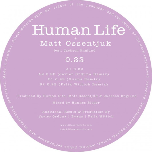 Premiere: Human Life, Matt Ossentjuk feat. Jackson Englund - 0.22 (Javier Orduna Remix) [Dilate Records] • When We Dip