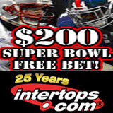 Intertops Sportsbook Gives Super Bowl Free Bet and Deposit Bonus