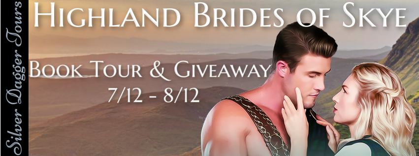 Book Tour Banner for the historical romance series, Highland Brides of Skye, by Tarah Scott and April Holthaus with a Book Tour Giveaway