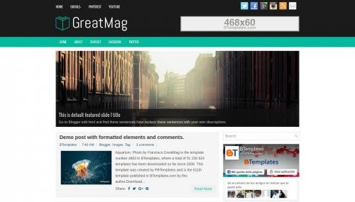 GreatMag Blogger template - BTemplates
