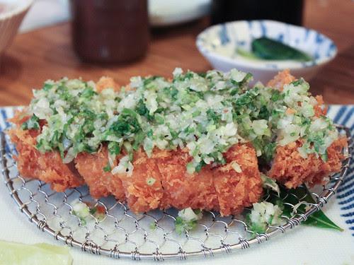 Scallions & garlic katsu