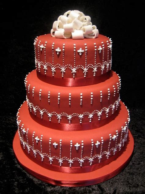 17 Best ideas about Red Wedding Cakes on Pinterest   Red