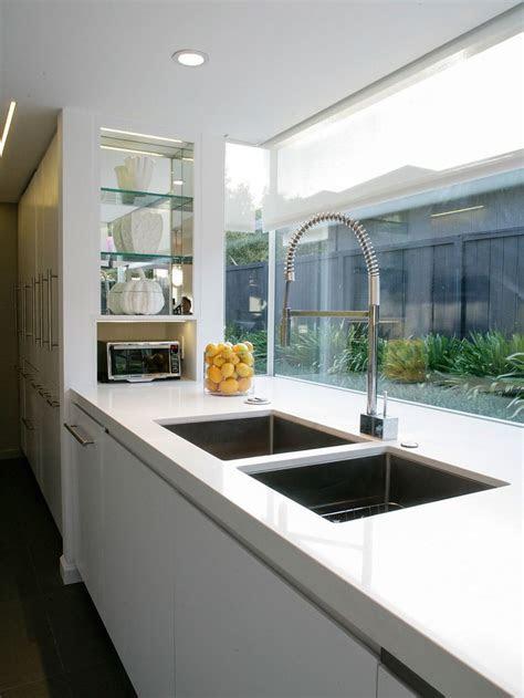 large double sink  window splashback house ideas