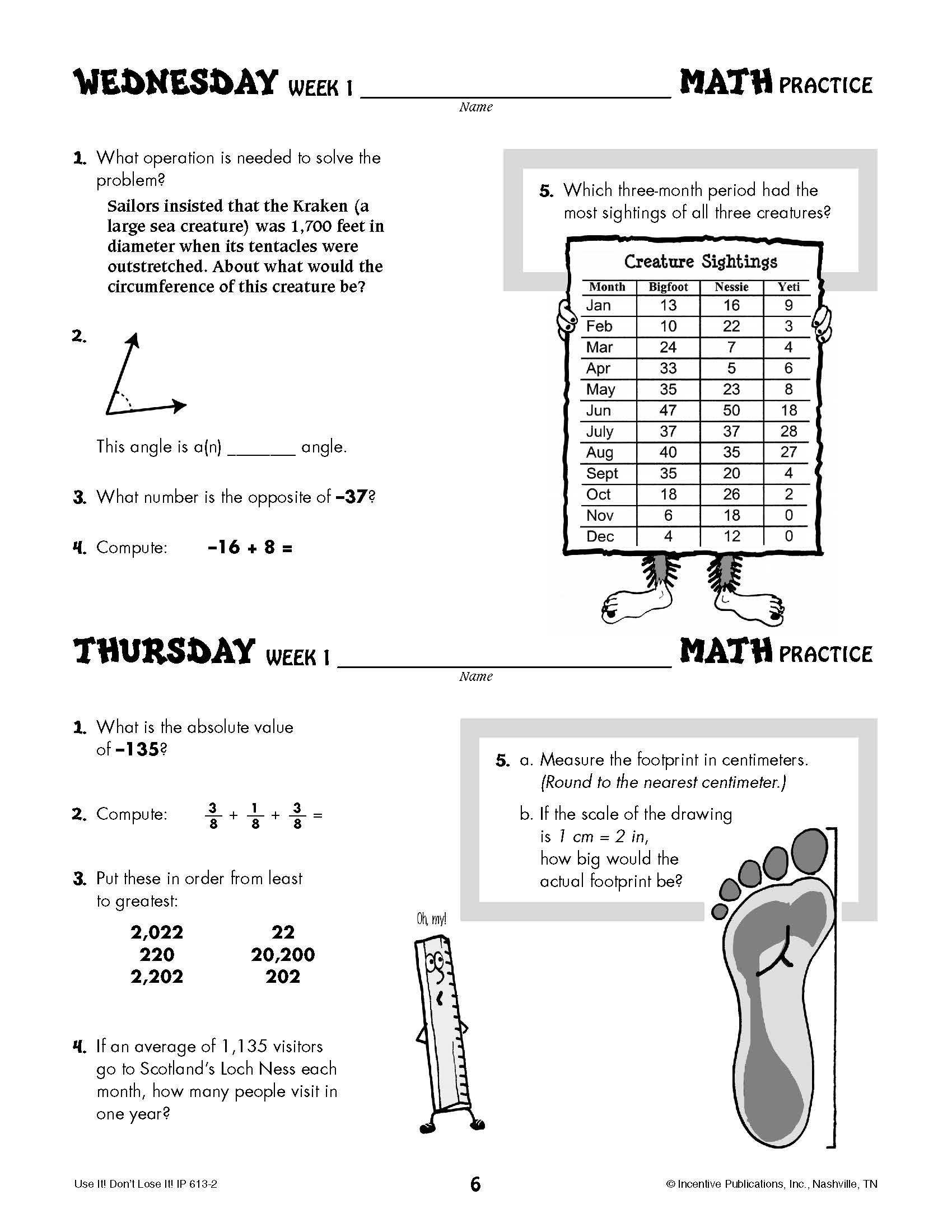 Daily Math Practice Grade 7: Use It! Don't Lose It! | World Book