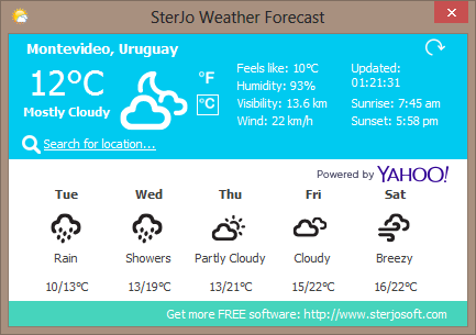 SterJo Weather Forecast - The Portable Freeware Collection Forums