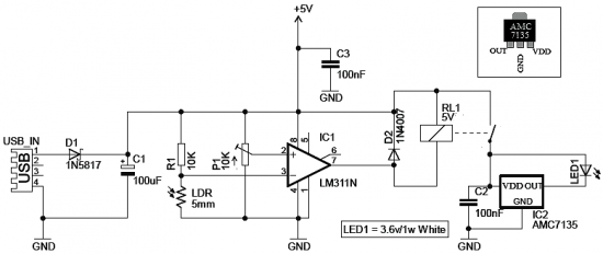 webcam illuminator circuit