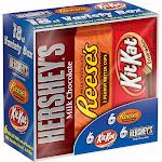 Hershey's Variety Box, Milk Chocolate & Reese's & Kit Kat - 18 bars, 27.3 oz total