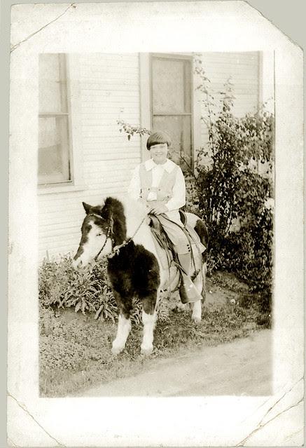 Girl on a pony enhanced