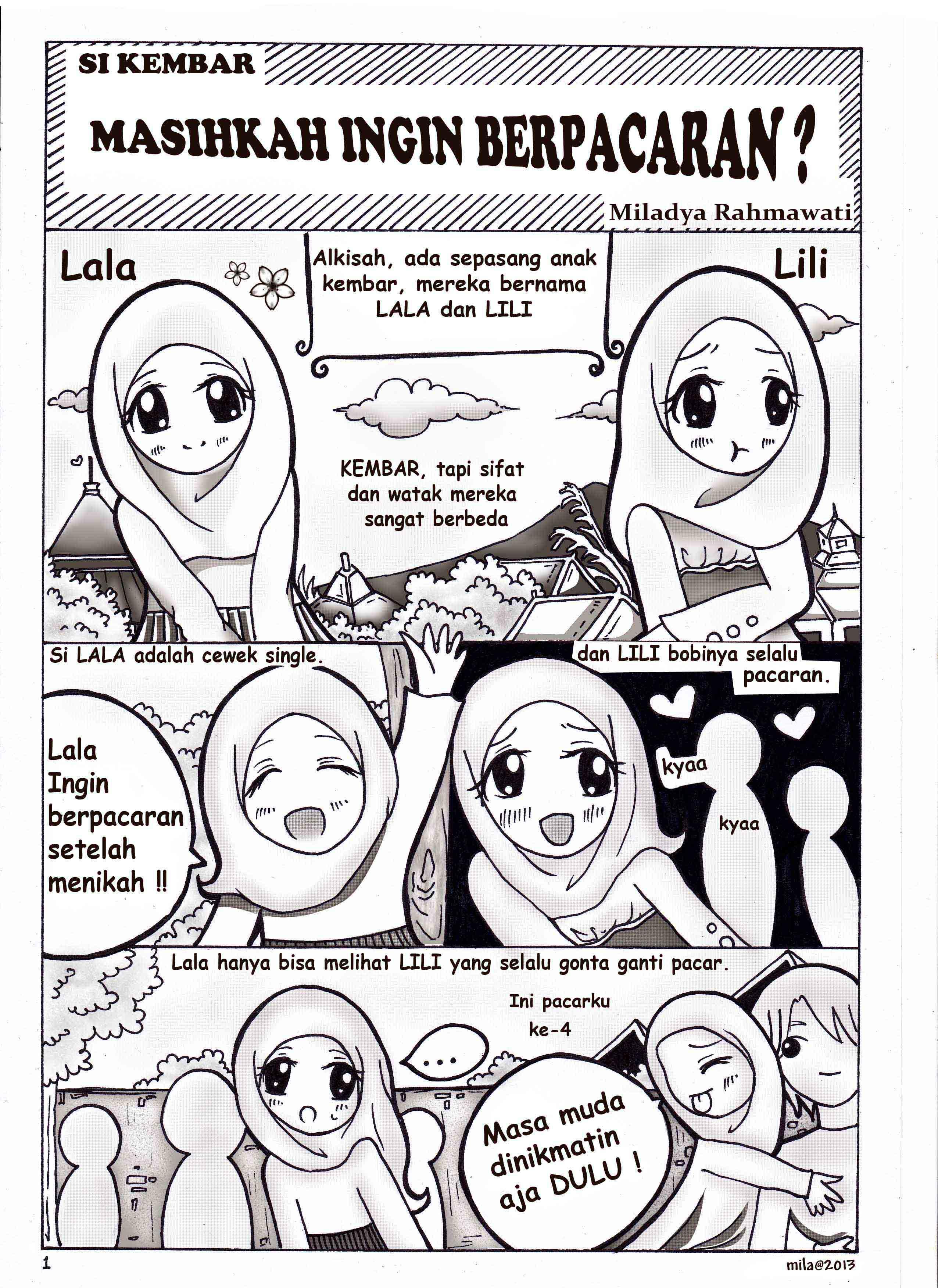 Komik Islami KETIKA KAU JATUH CINTA Komik Islami Buatan Tangan