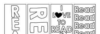 Fun Coloring Bookmarks