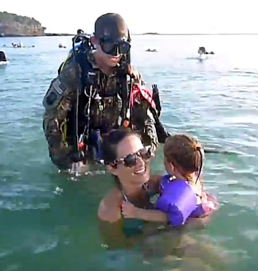 Scuba-Diving Soldier Returns Home Early