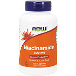 Now Foods Niacinamide Energy Production Supplement, 500 mg - 100 count