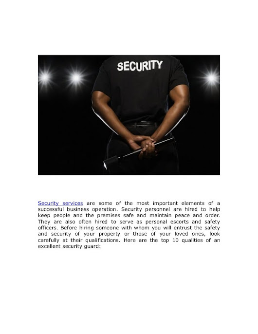 Top 10 Qualities Every Excellent Security Guard Should Have