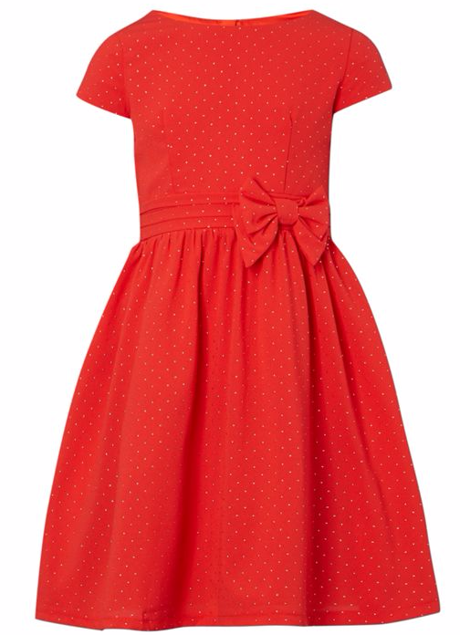 Little Misdress Girls Spot Print Dress With Big Bow On Waist at House of Fraser