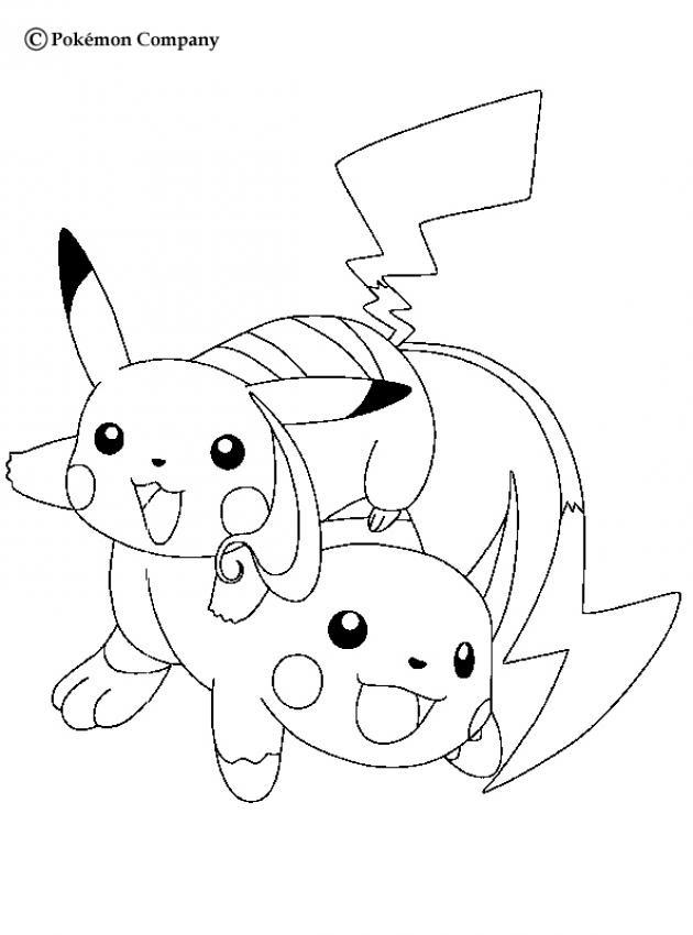 Pokemon Pikachu Zum Ausmalen Bild Ausmalen