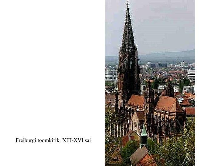 Freiburgi toomkirik. XIII-XVI saj