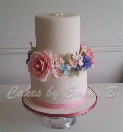 Romantic Vintage Two Tier Wedding Cake   CakeCentral.com