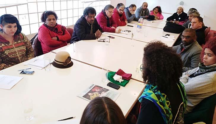 Secretariado Ejecutivo del PIT-CNT con agrupaciones de afrodescendientes. Foto: PIT-CNT.
