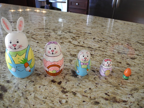 Bunny Nesting Toy by midgefrazel