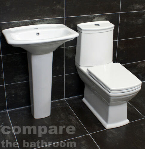 Bath Diana Art Deco Style Bathroom Suite Basin Sink Toilet Wc Set Soft Close Seat Home Furniture Diy Tohoku Morinagamilk Co Jp