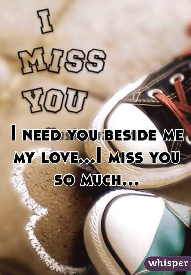 I Miss You So Much My Love