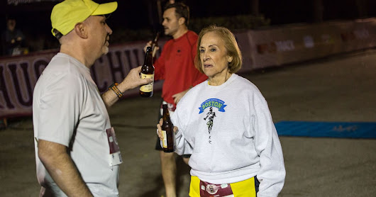 Hero Grandma Beats Her Kids in Beer Mile, Celebrates With Wings and Scotch