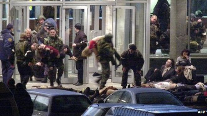 Image result for Hostage crisis in Moscow theater images