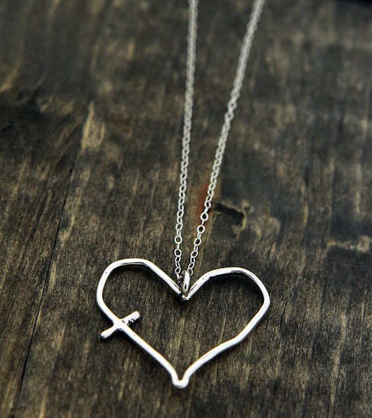His word in my heart charm necklace, now in sterling silver (plus a giveaway!) – The Vintage Pearl