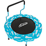 SkyBound FJ-4035-CLDB 40 in. Mini4 Childrens Trampoline with White Clouds Blue