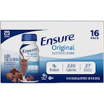 Ensure Original Nutrition Shake - Milk Chocolate - 16ct/128 fl oz Total