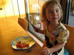 Breakfast of tomatoes