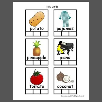 syllable words picture cards