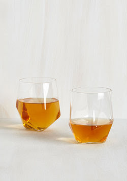 Gifts for Guys - Face the Facets Glass Set