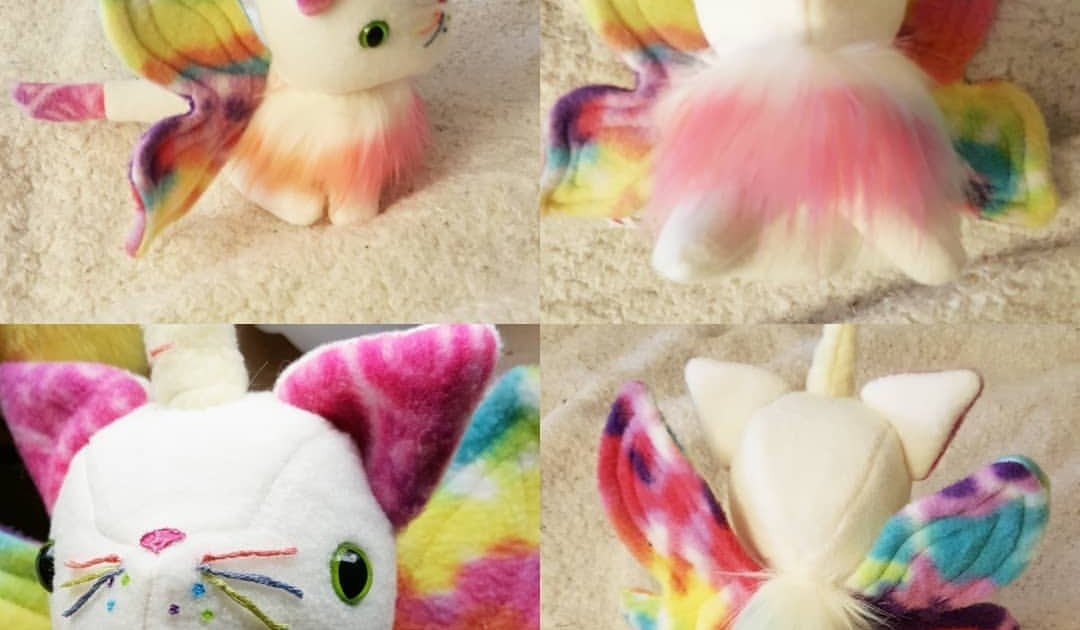 butterfly: Rainbow Unicorn Cat With Butterfly Wings